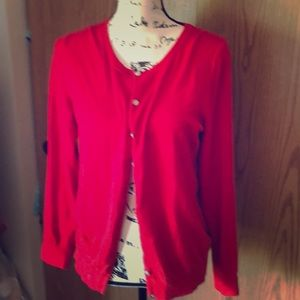 Large red old navy cardigan